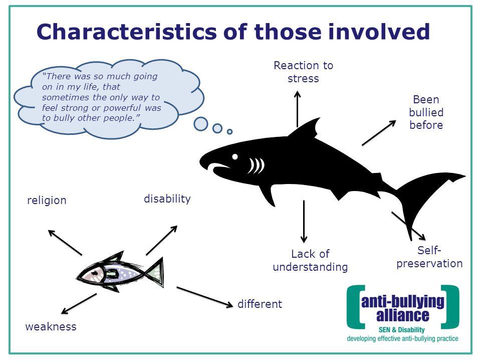 Characteristics of those involved