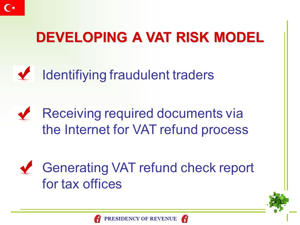 DEVELOPING A VAT RISK MODEL