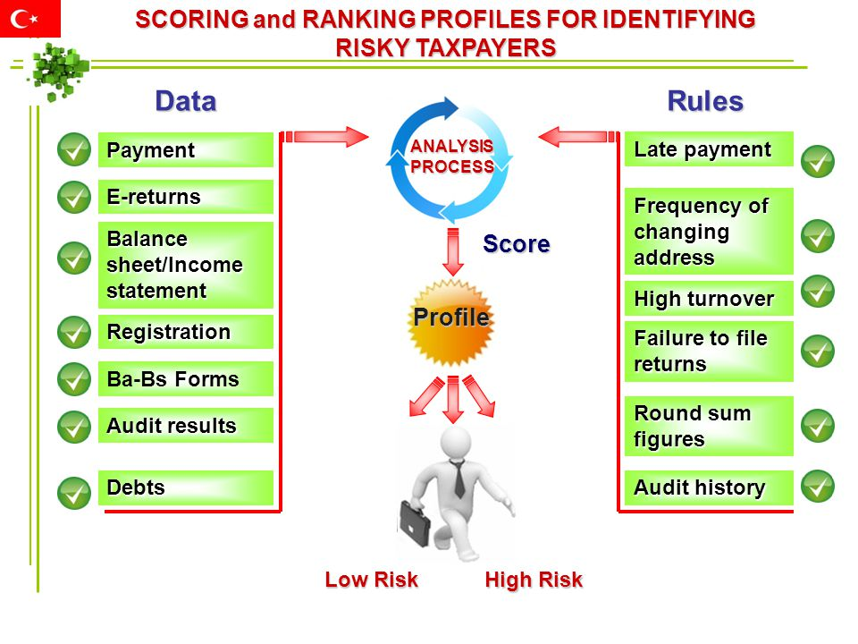 SCORING and RANKING PROFILES FOR IDENTIFYING RISKY TAXPAYERS