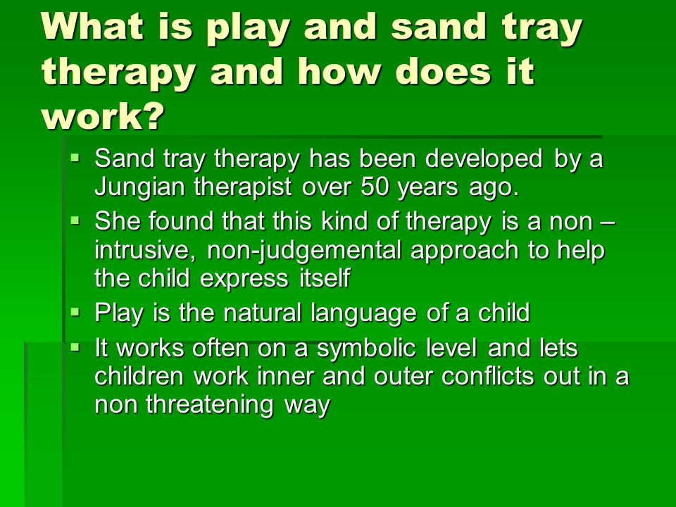 What is play and sand tray therapy and how does it work