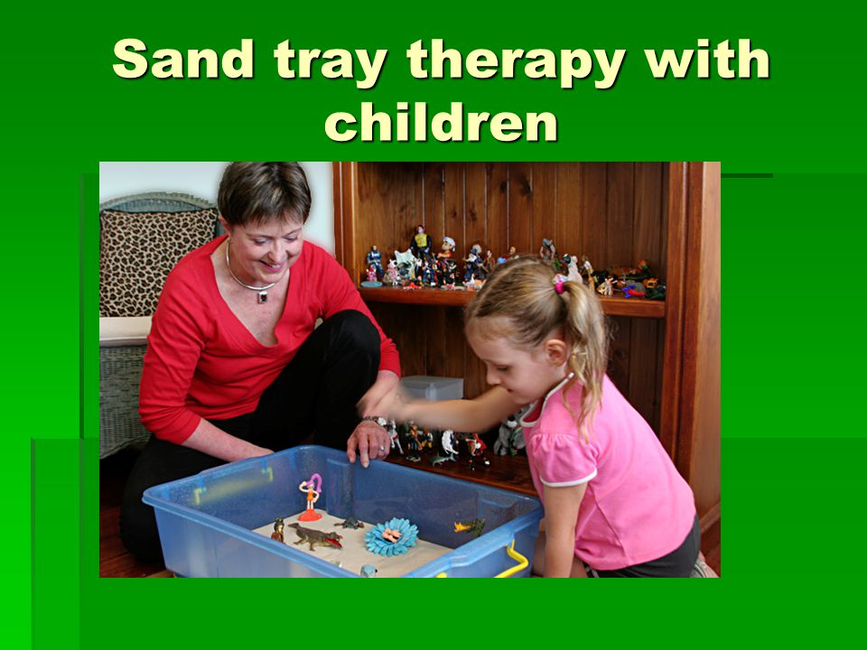 Sand tray therapy with children