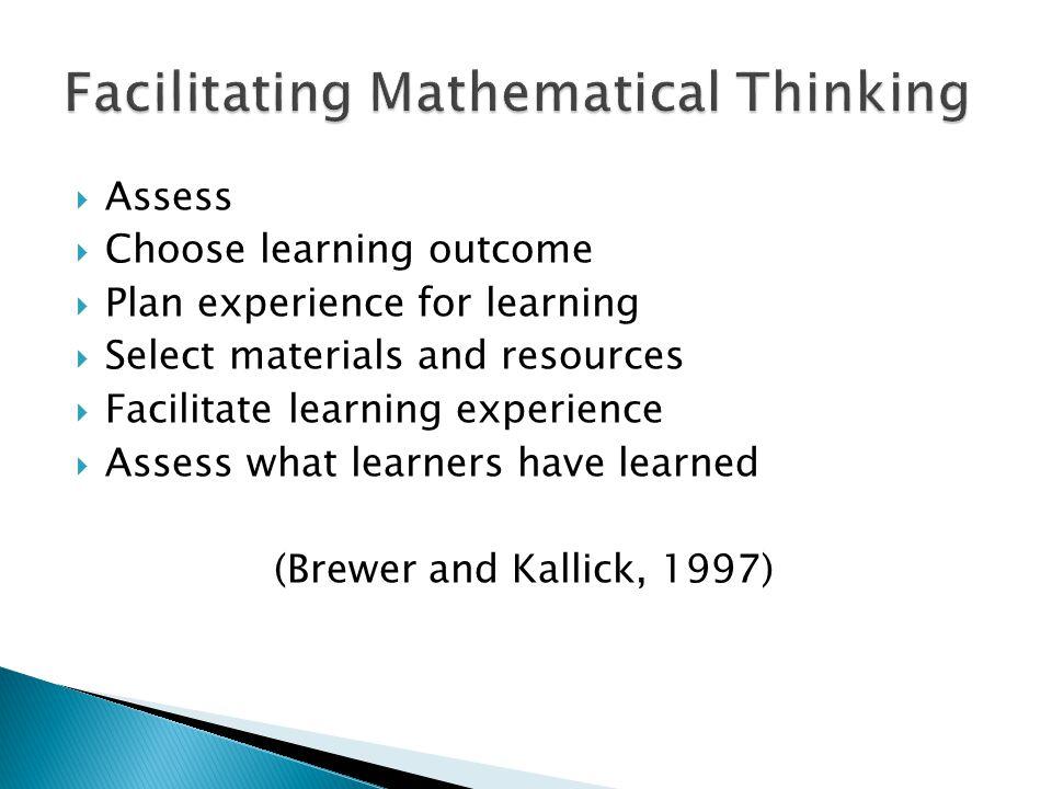Facilitating Mathematical Thinking