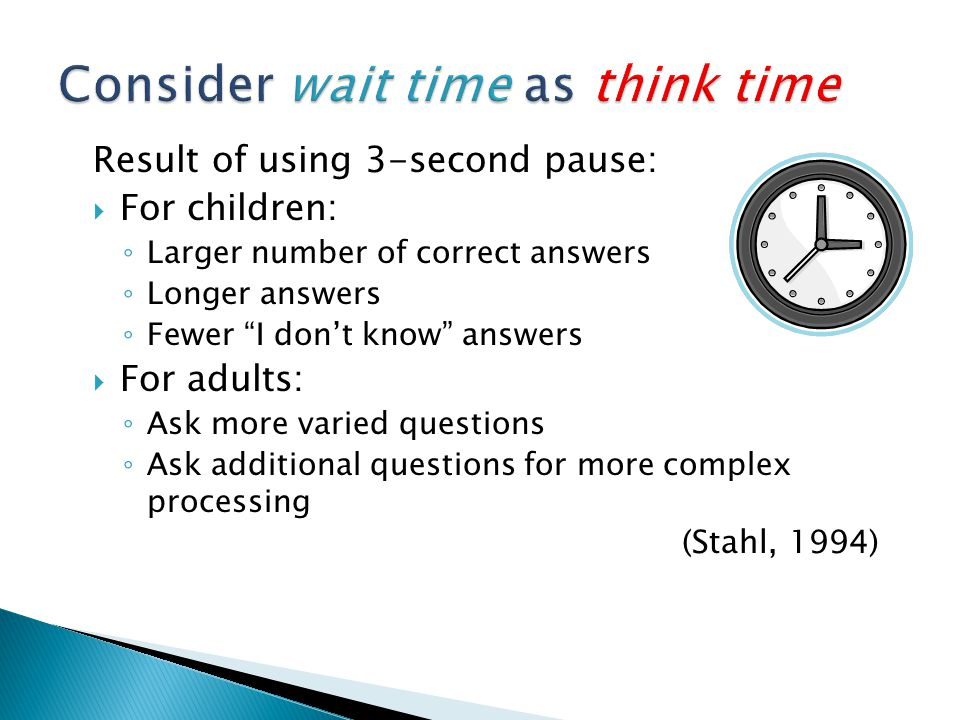 Consider wait time as think time