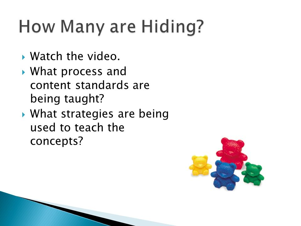 How Many are Hiding Watch the video.