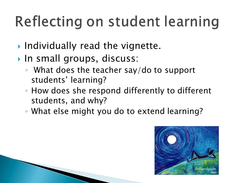 Reflecting on student learning