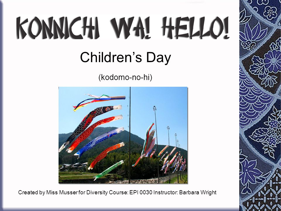 Children's Day (kodomo-no-hi)