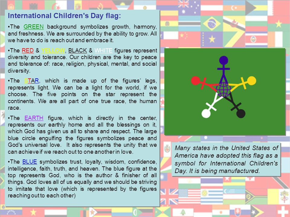 International Children s Day flag: