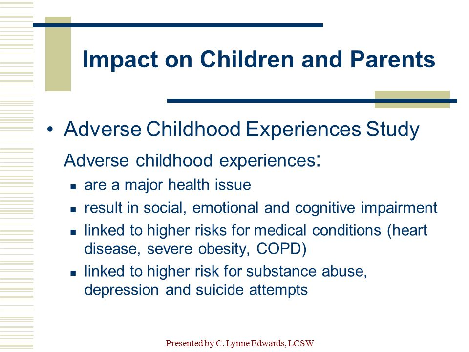 Impact on Children and Parents