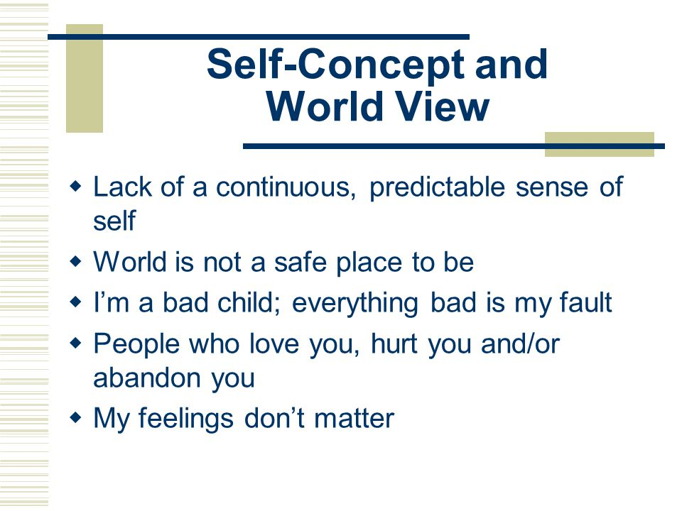 Self-Concept and World View