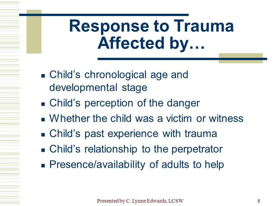 Response to Trauma Affected by…