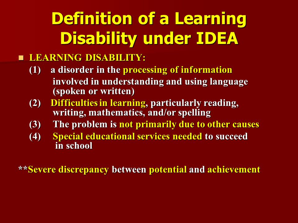 handicap definition essay Severe/profound general learning disability   appendix 1: definitions of  special educational needs   educational need should not define the whole  child.