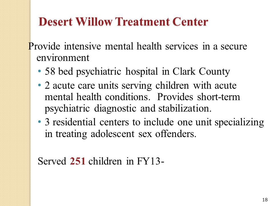 Desert Willow Treatment Center