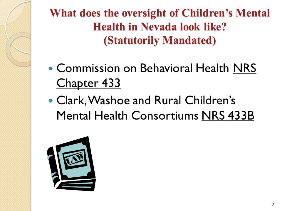 Commission on Behavioral Health NRS Chapter 433