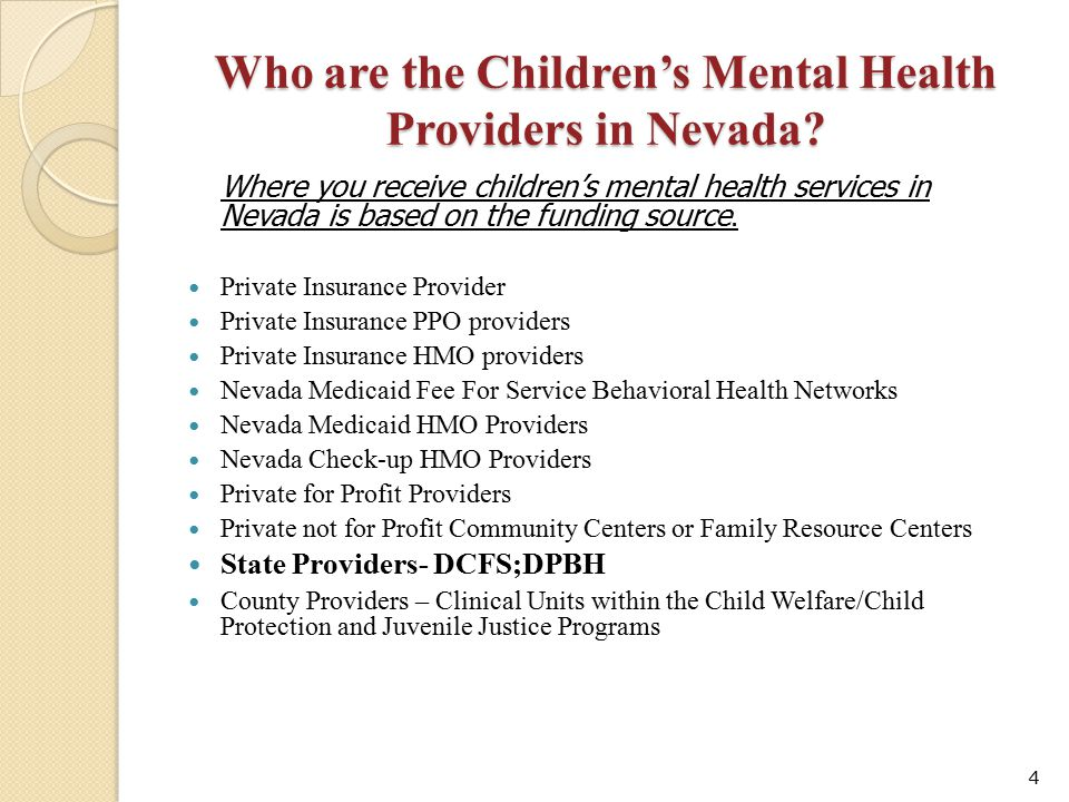 Who are the Children's Mental Health Providers in Nevada
