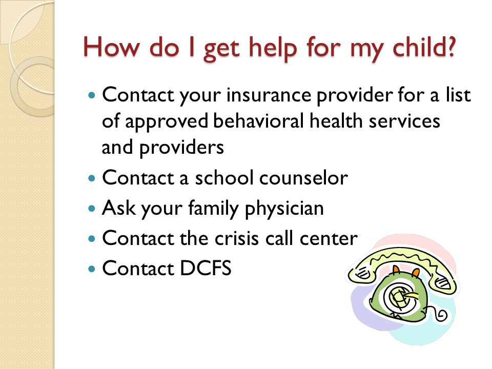 How do I get help for my child
