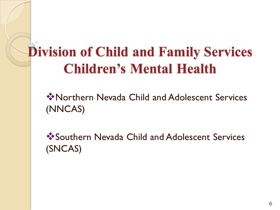 Division of Child and Family Services Children's Mental Health