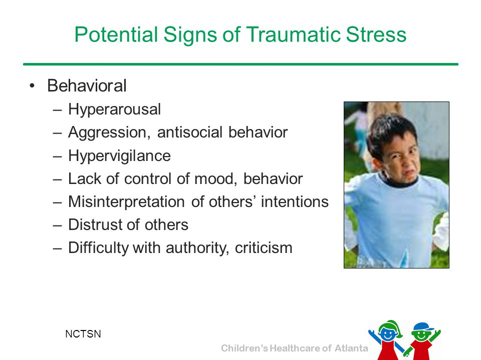 Potential Signs of Traumatic Stress