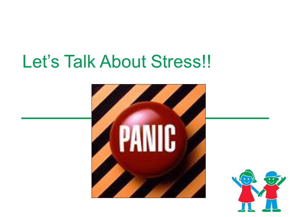 Let's Talk About Stress!!