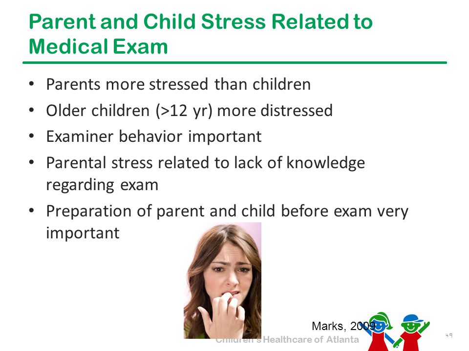 Parent and Child Stress Related to Medical Exam