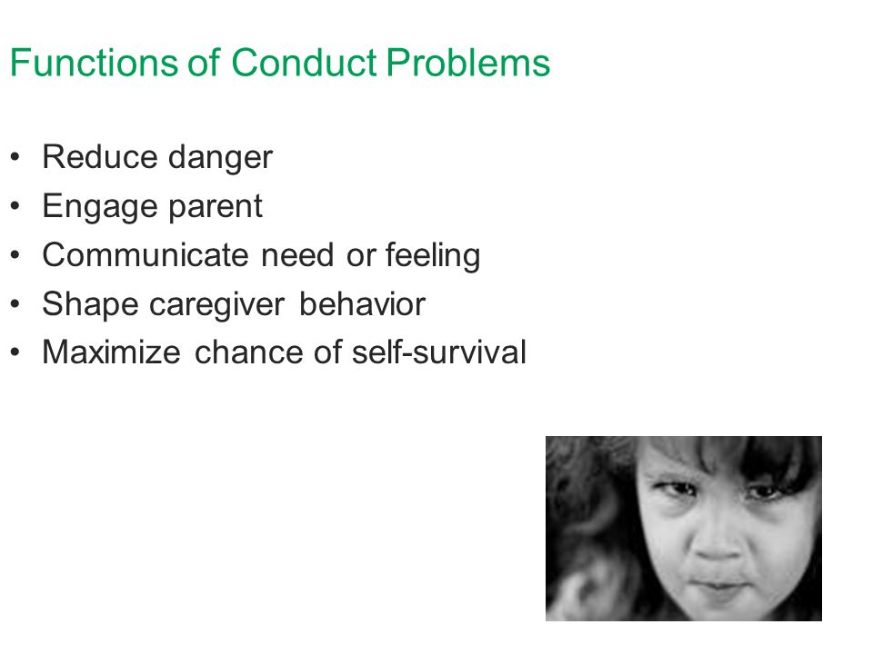 Functions of Conduct Problems