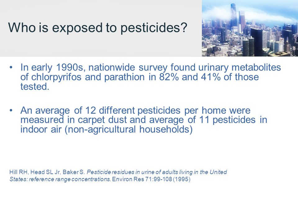 Who is exposed to pesticides