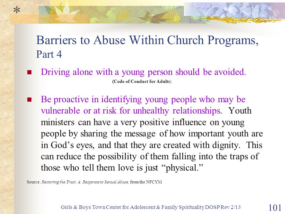 Barriers to Abuse Within Church Programs, Part 4