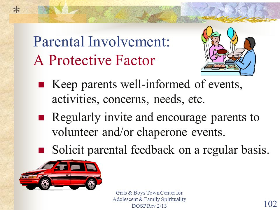 Parental Involvement: A Protective Factor