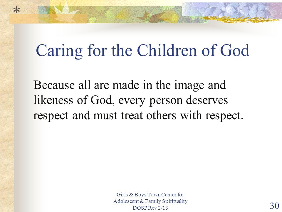 Caring for the Children of God
