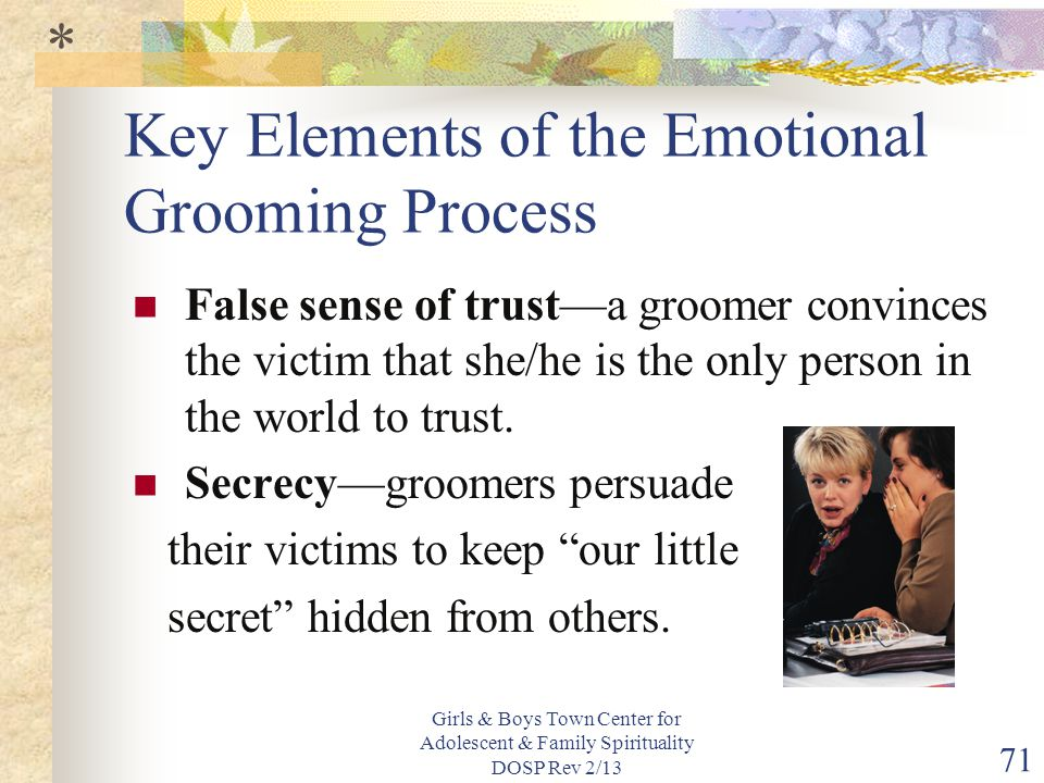 Key Elements of the Emotional Grooming Process