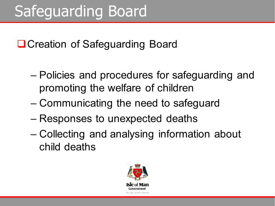 Safeguarding Board Creation of Safeguarding Board