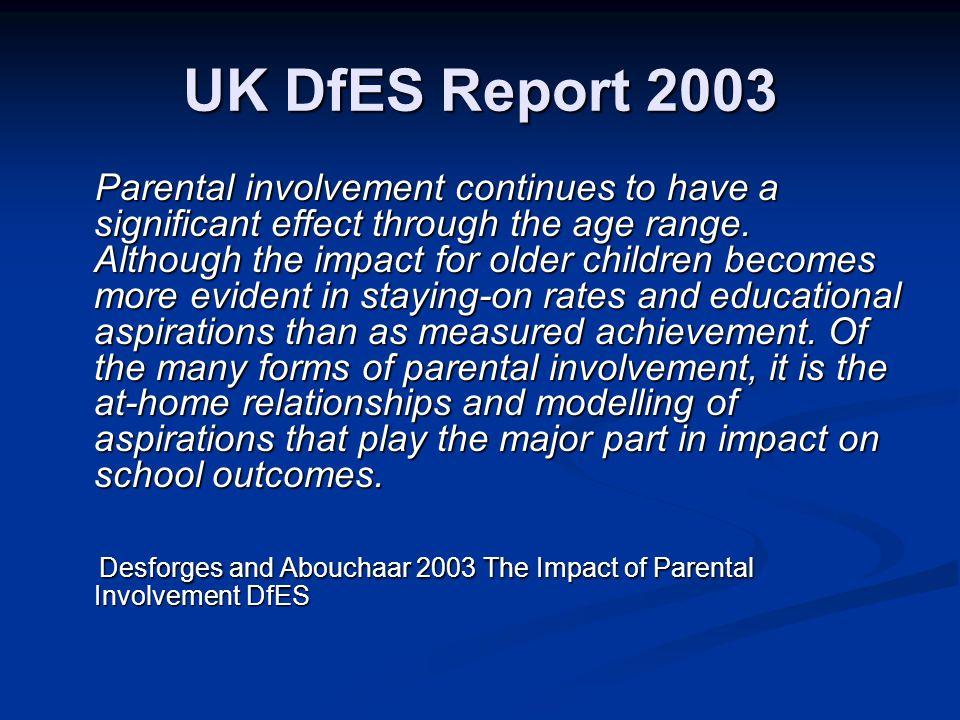 UK DfES Report 2003
