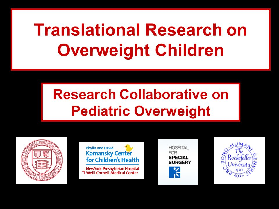 Translational Research on Overweight Children