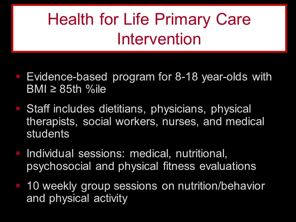 Health for Life Primary Care Intervention