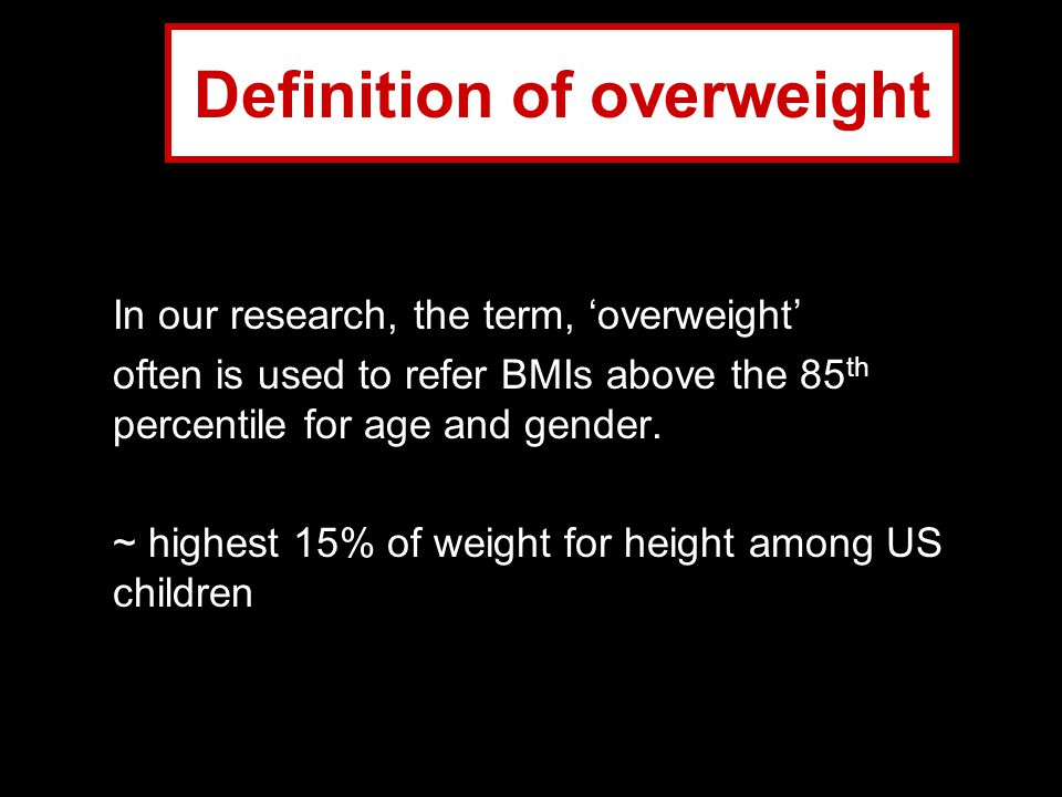 Definition of overweight