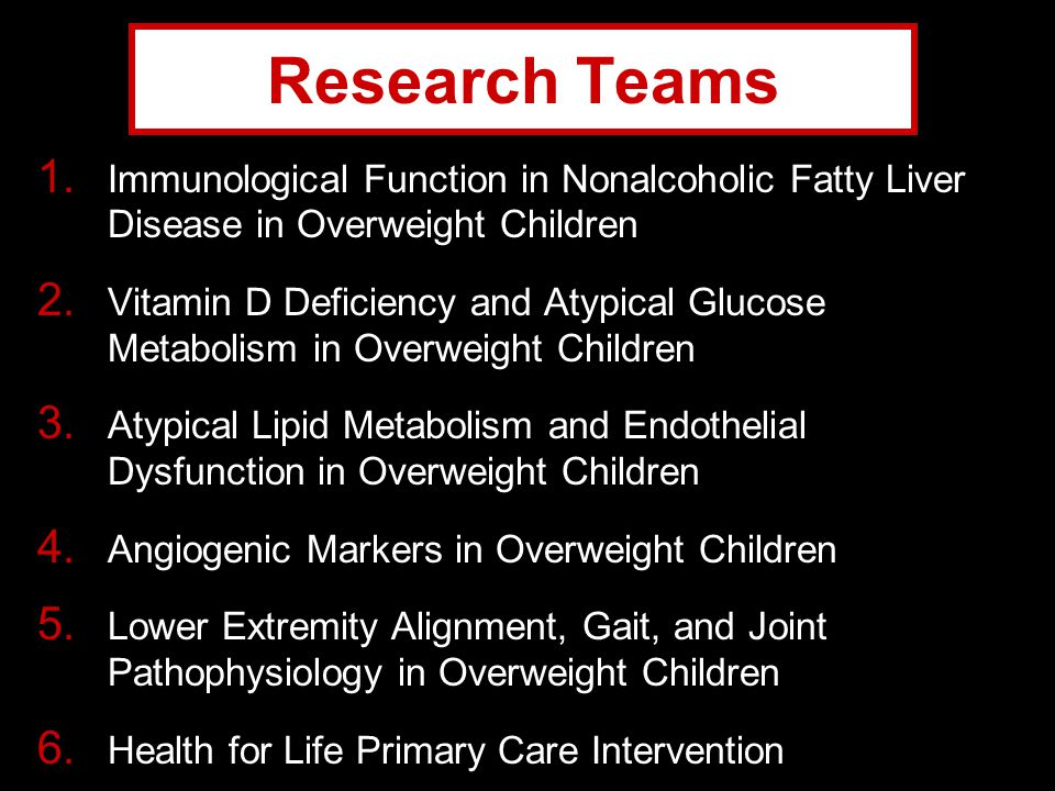 Research Teams Immunological Function in Nonalcoholic Fatty Liver Disease in Overweight Children.