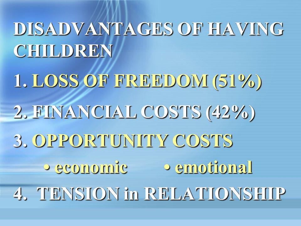 DISADVANTAGES OF HAVING CHILDREN