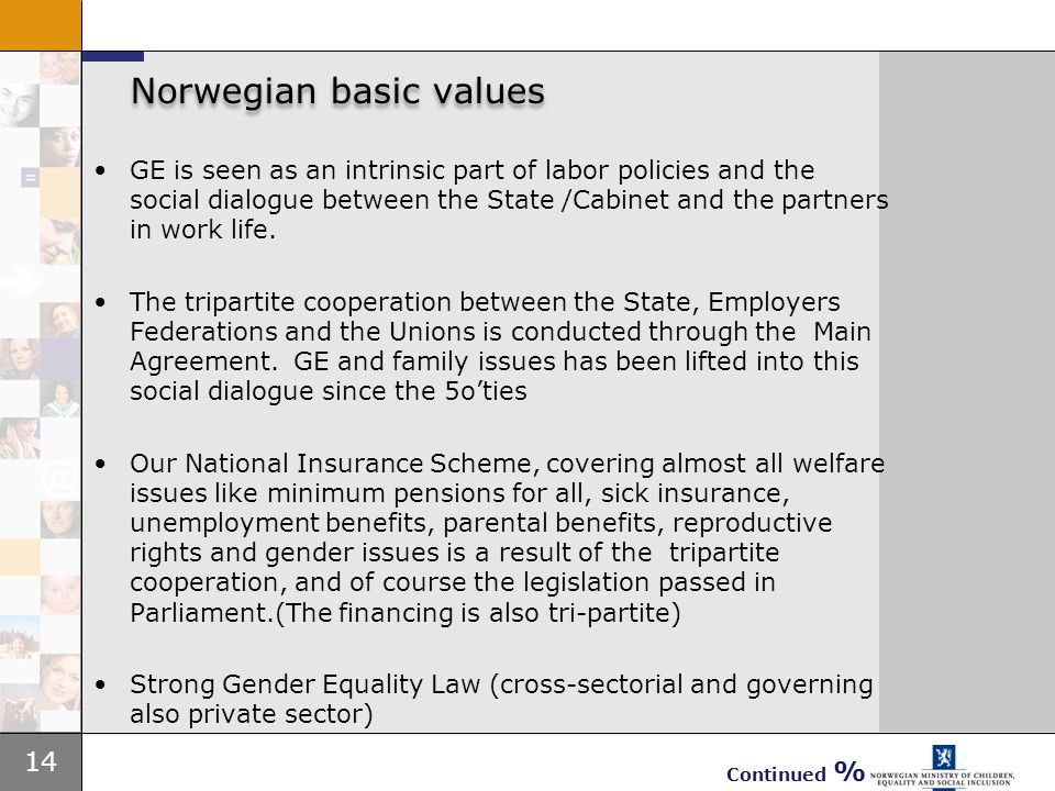 Norwegian basic values