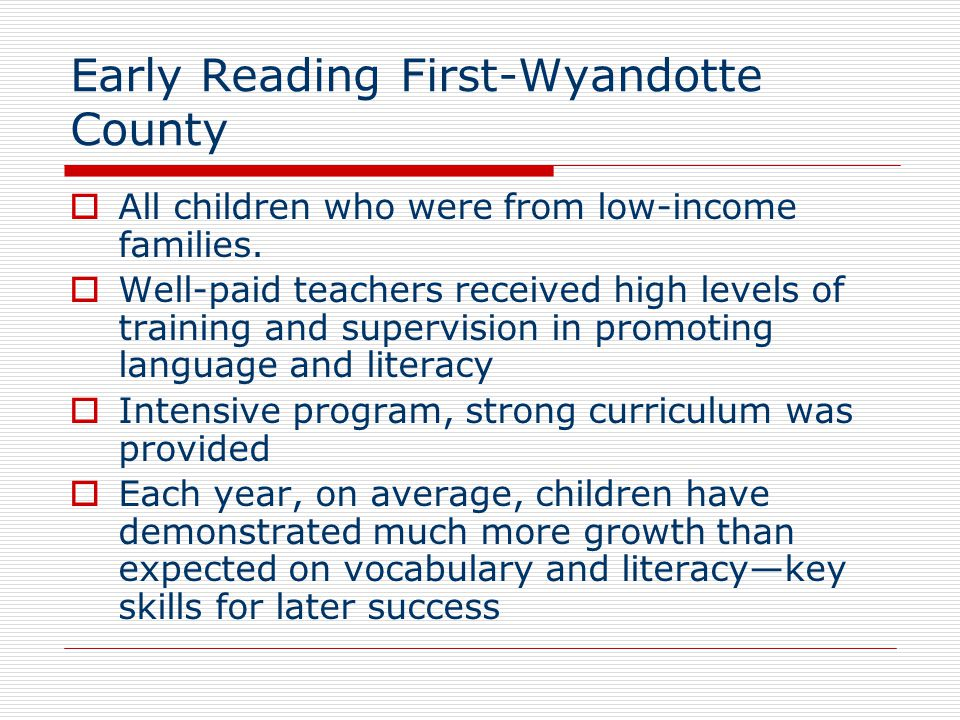 Early Reading First-Wyandotte County