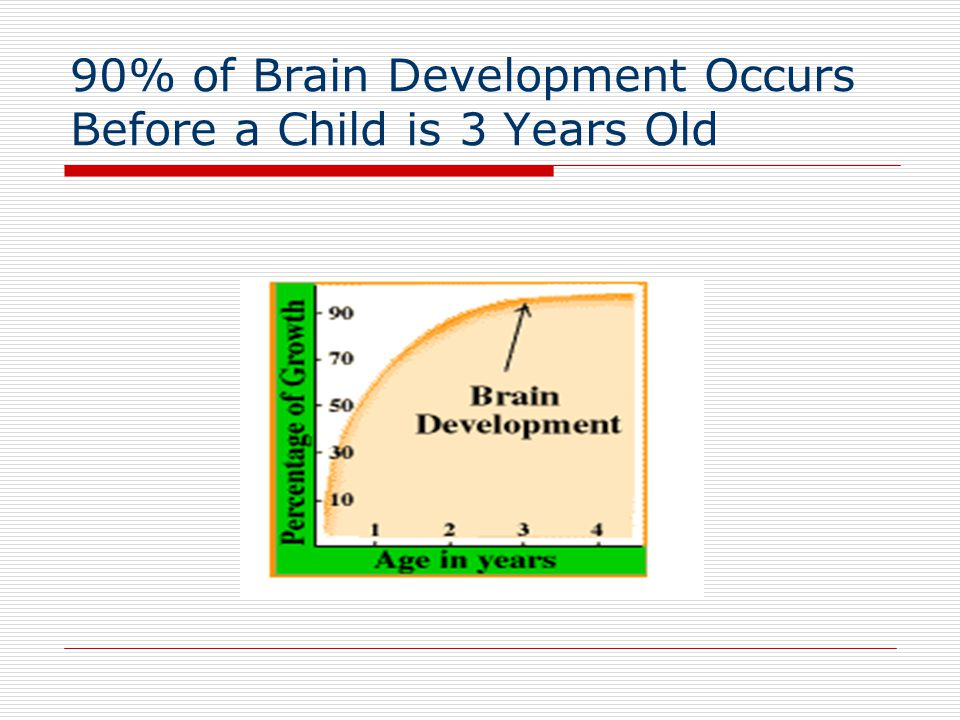 90% of Brain Development Occurs Before a Child is 3 Years Old
