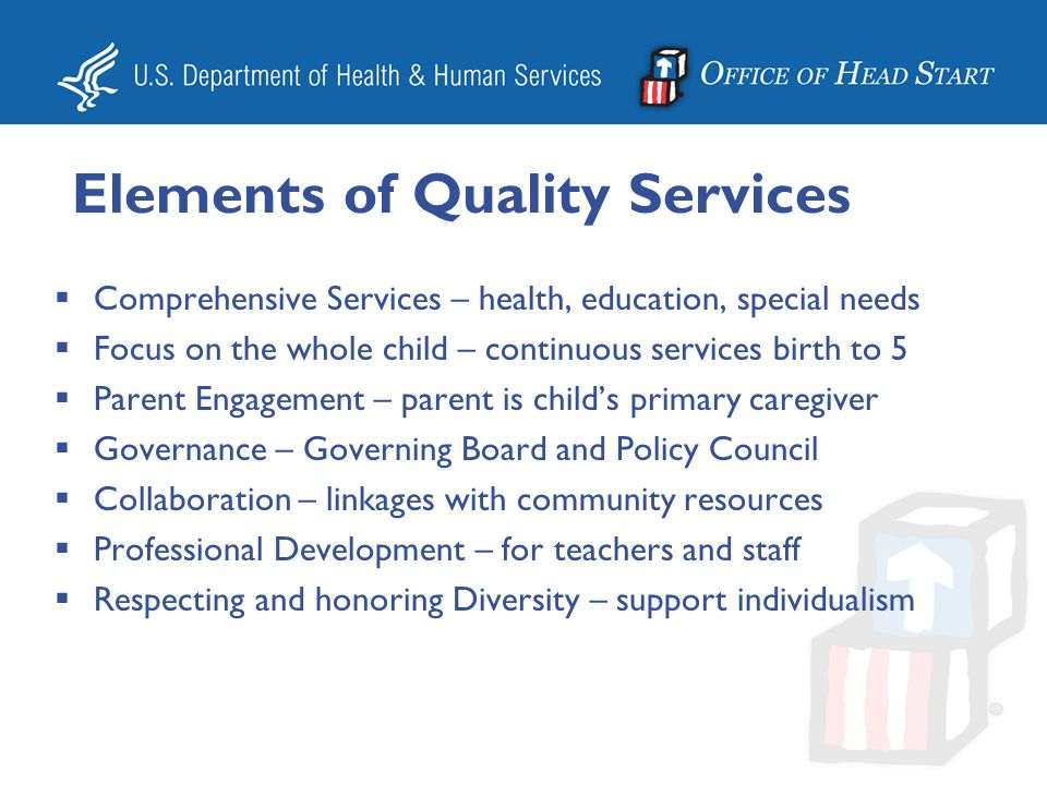 Elements of Quality Services