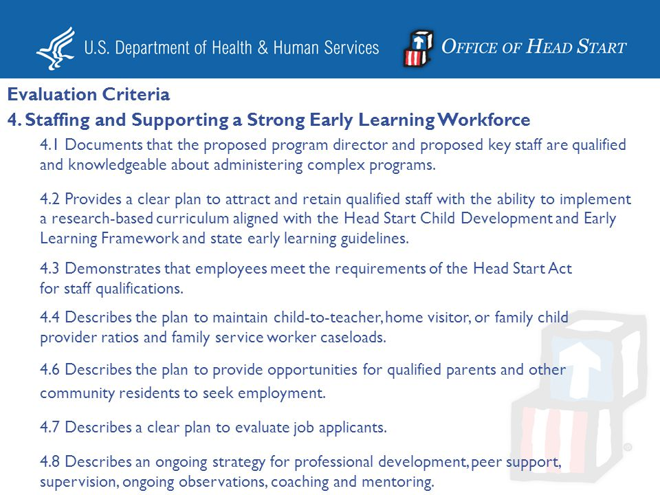 4. Staffing and Supporting a Strong Early Learning Workforce