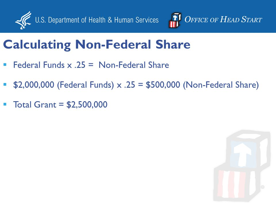 Calculating Non-Federal Share