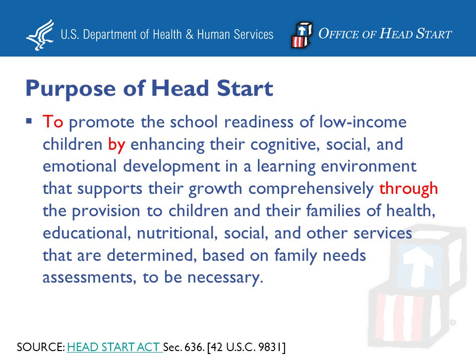 Purpose of Head Start