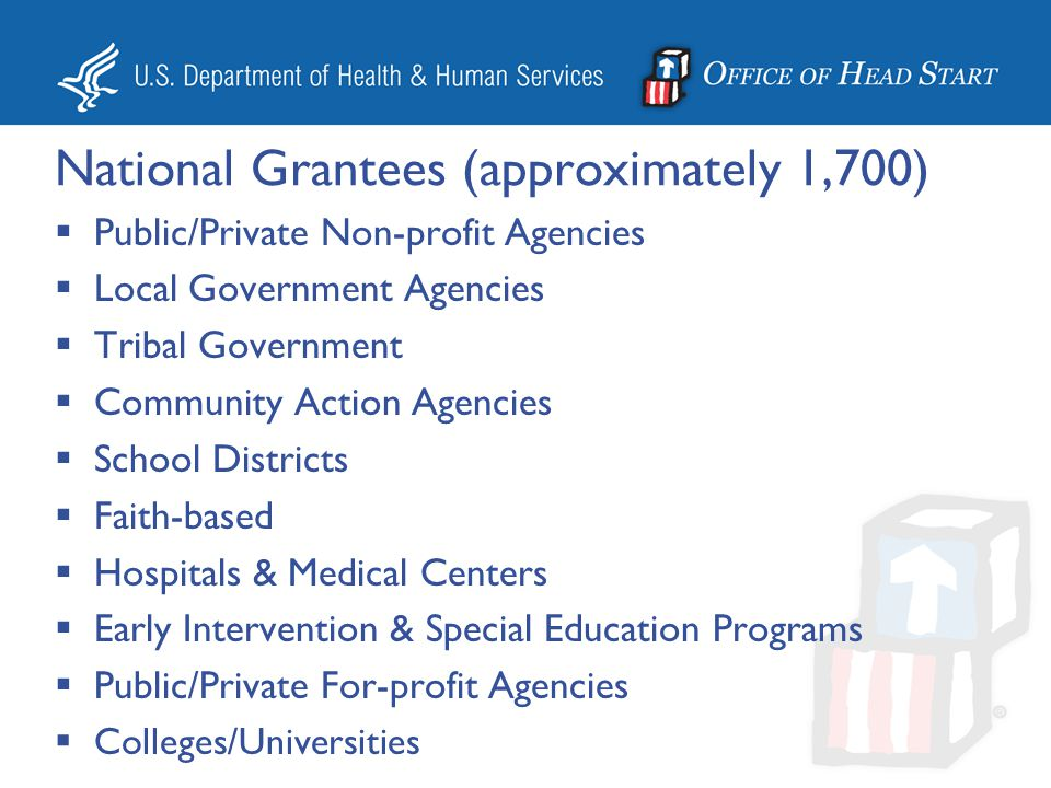 National Grantees (approximately 1,700)