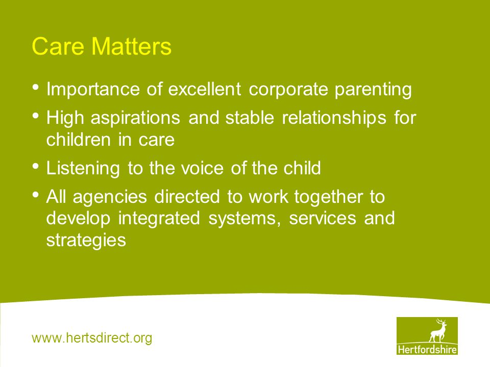 Care Matters Importance of excellent corporate parenting