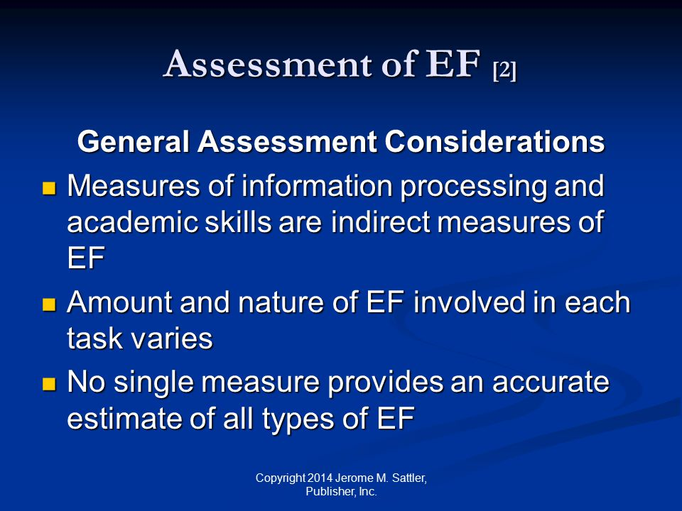 General Assessment Considerations