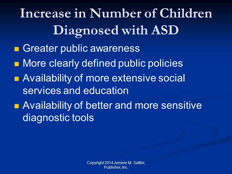 Increase in Number of Children Diagnosed with ASD