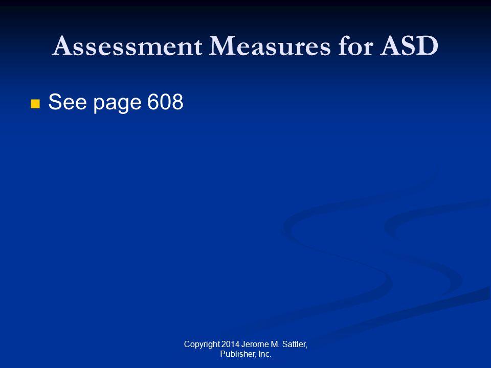Assessment Measures for ASD