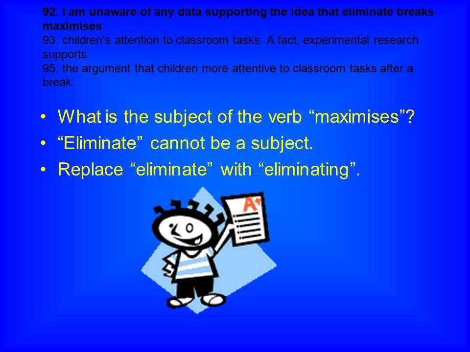 What is the subject of the verb maximises