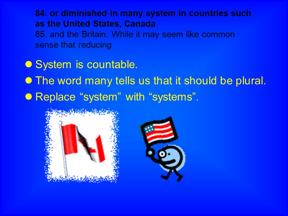 The word many tells us that it should be plural.
